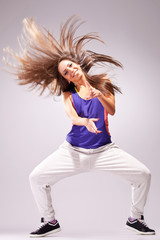 headbanging woman dancer