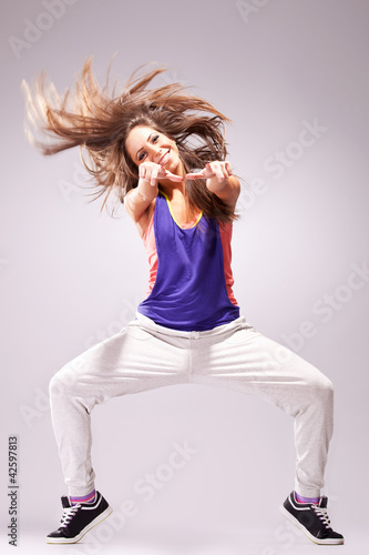 womand dancer pointing to you