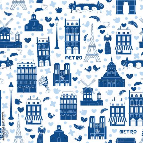 Paris background. Pattern - 42597873