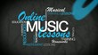 Online Music lesson e-learning word tag cloud animation video
