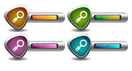search button. vector