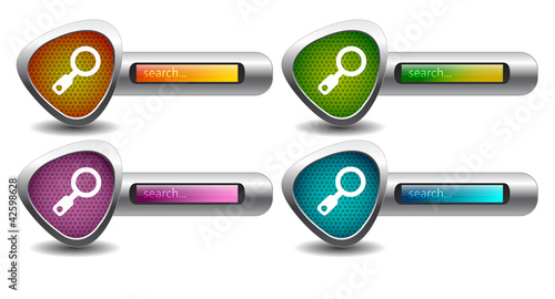search button. vector