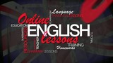 Online English lesson e-learning word tag cloud animation video
