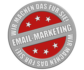 Schild graurot rund rt  WMDFS EMAIL MARKETING