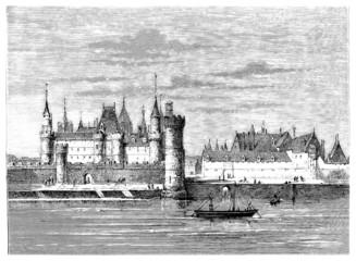 The medieval Louvre - Paris (France)