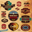 Retro labels vintage collection. Premium quality.