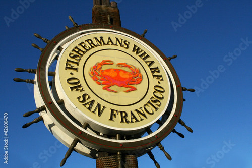 Fotobehang San Francisco San Francisco Fishermans Wharf Sign