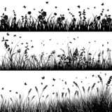 Fototapety meadow silhouette set