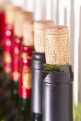 Cork and red wine
