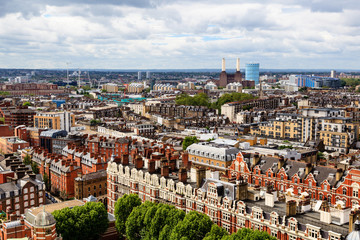 Aerial View from Westminster Cathedral on Roofs and Houses of Lo
