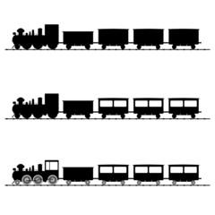 train vector illustration black silhouette