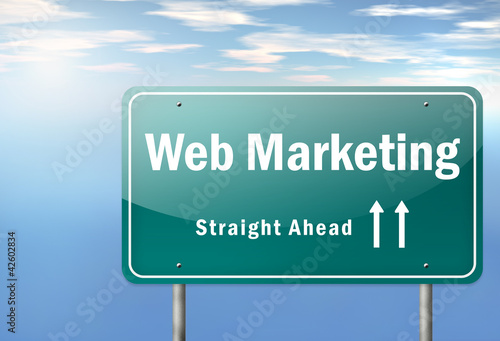 "Highway Signpost ""Web Marketing"""