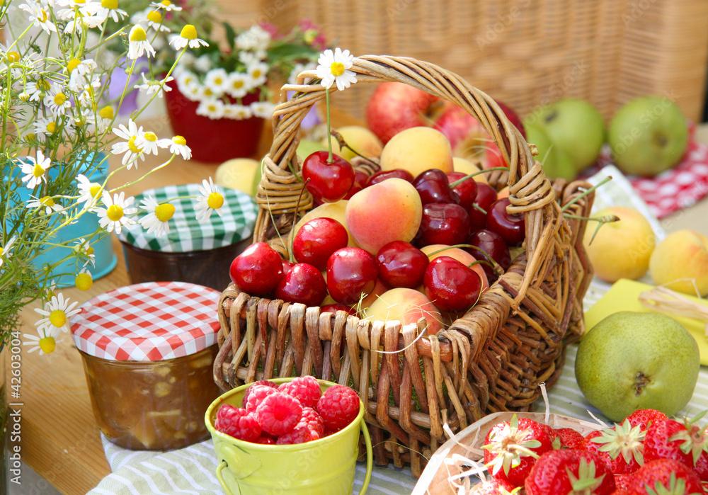 owoc owoc wiśnia - powiększenie