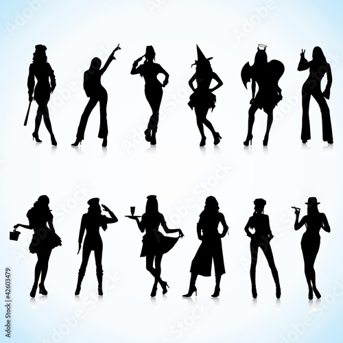 Uniform, Costume  Women Silhouettes