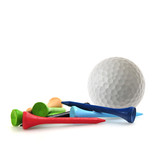 Golf ball and tees