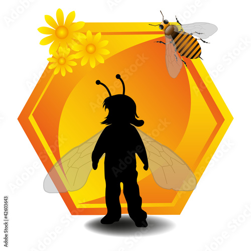 Child as a bee