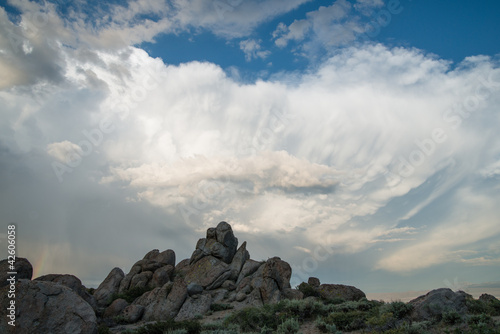 Clouds over rocks