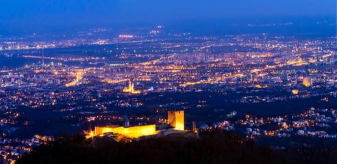 Zagreb over the old town Medvedgrad