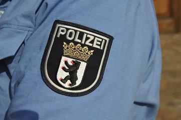 Polizei, Berlin, Sicherheit, Ordnung, Wappen, Aufnäher