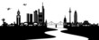 Frankfurt Skyline mit Main