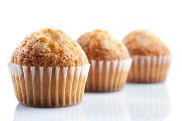oil muffins isolated on white