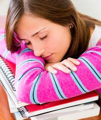 Student fallng asleep