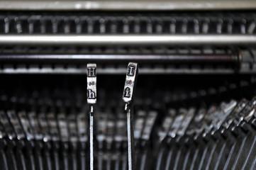 Martelletti della macchina per scrivere, caratteri hi
