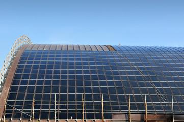 Cantiere per installazione pannelli solari