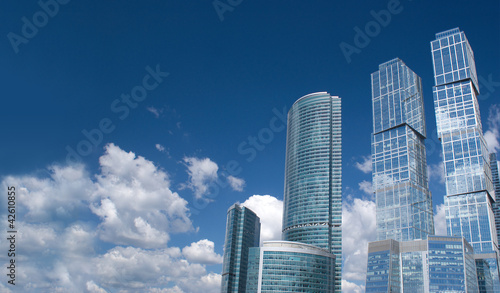 Moscow City Busisness centre in Moscow Russia