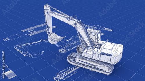 Excavator Blueprint