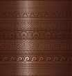 Seamless copper Greek ornaments
