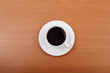 Black coffee in a cup