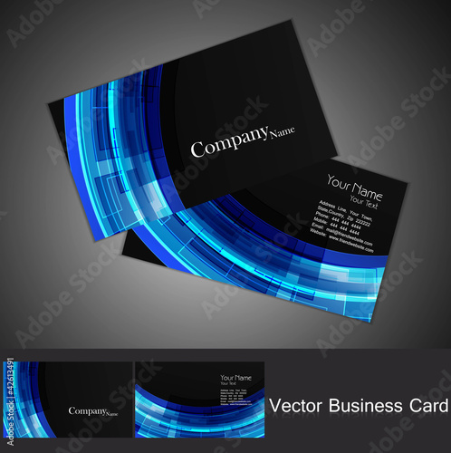 abstract colorful business card set technology vector