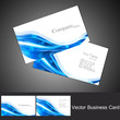 abstract business card set technology vector