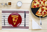 slice of pizza on plate