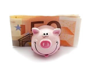 cochon souriant  économie argent