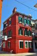 maison d'angle à Burano