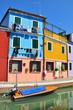 Burano, maisons de couleurs