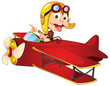 monkey driving aircraft