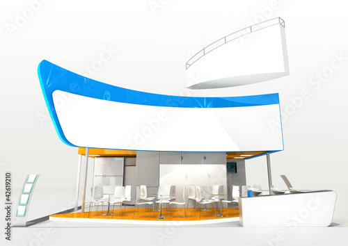 abstract exhibition stand