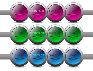 round buttons for web