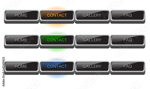 buttons for web, vector