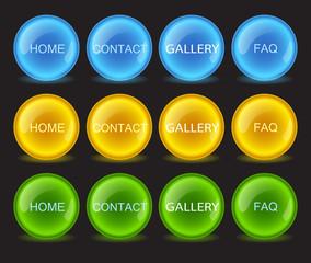 buttons neon, vector