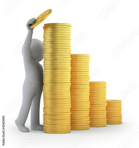 3d small people - financial success