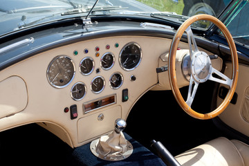 Classic Sports Car Dashboard