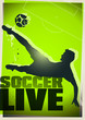 soccer live poster green