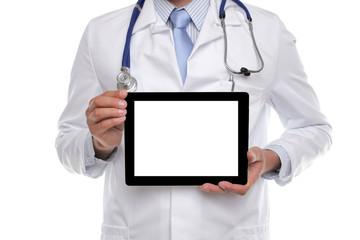Arzt mit Tablet PC