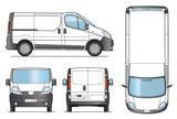 Fototapety Delivery Van Template - Vector