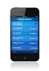 Mobile phone with electronic banking application
