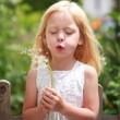 kleines Mädchen mit Pusteblume
